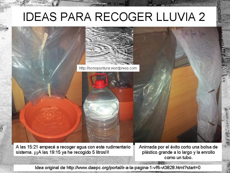 Ideas para recoger agua de lluvia sonopuntura - Recoger agua lluvia ...