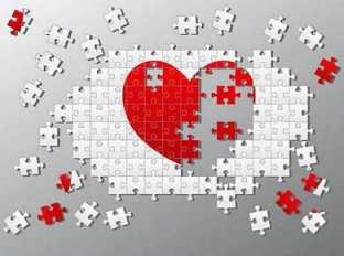 puzzle corazón