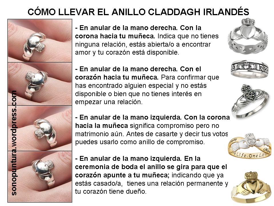 Bendici n norirlandesa y anillo claddagh sonopuntura for En que mano se usa el anillo de compromiso